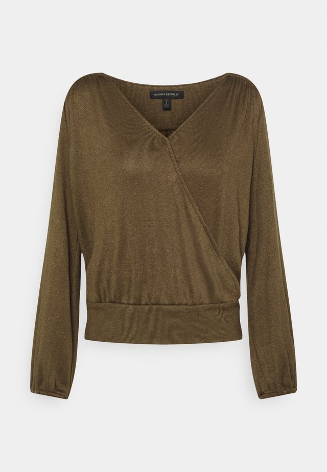 COZY WRAP - Maglione - heritage olive