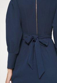 Closet - LONG SLEEVE TULIP DRESS - Shift dress - navy - 6