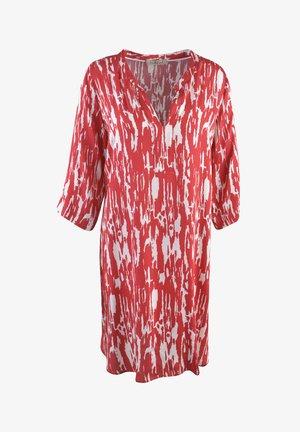 Shirt dress - vino print