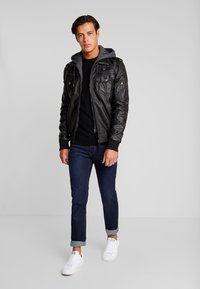 INDICODE JEANS - ULLE - Faux leather jacket - black - 1