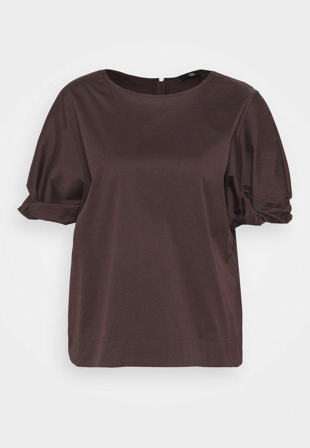 Basic T-shirt - onyx brown