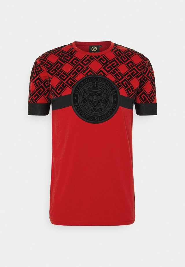 ARMAZ TEE - T-shirt con stampa - red