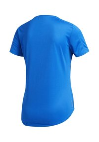 adidas Performance - RUN IT 3-STRIPES FAST T-SHIRT - Print T-shirt - blue - 9