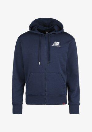 ESSENTIALS ICON KAPUZENSWEATJACKE HERREN - Zip-up hoodie - blue