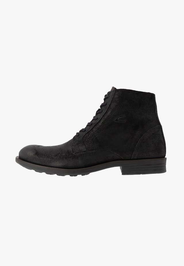 CHECK - Šněrovací kotníkové boty - black