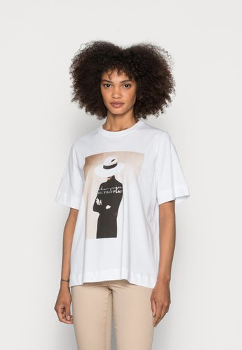 WITH PRINT - T-shirt print - toffee