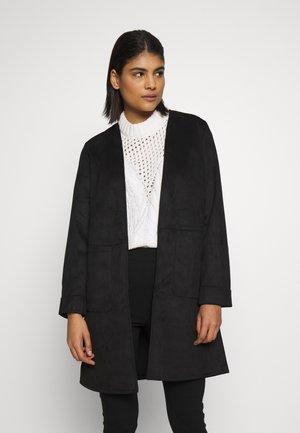EDGE TO EDGE SUEDETTE JACKET - Short coat - black