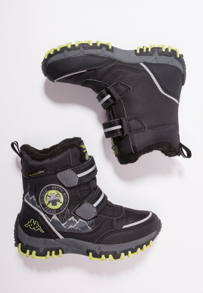 Kappa - RESCUE TEX - Winter boots - black/lime