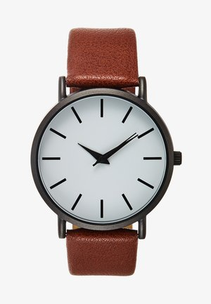 Watch - dark brown/gunmetal
