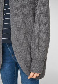 s.Oliver - LANGARM - Cardigan - dark grey melange - 5