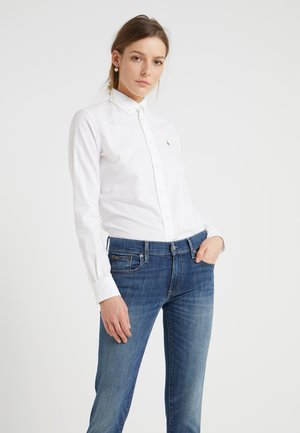 OXFORD SLIM FIT - Button-down blouse - white