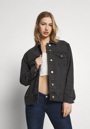 OVERSIZED JACKET - Denim jacket - black