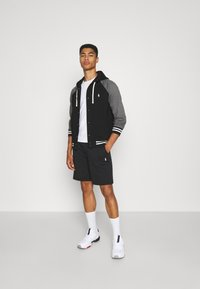 Polo Ralph Lauren - BASEBLHOODM LONG SLEEVE - Zip-up sweatshirt - black - 1