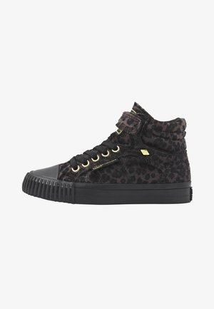 DEE - High-top trainers - dk grey leopard/gold/black