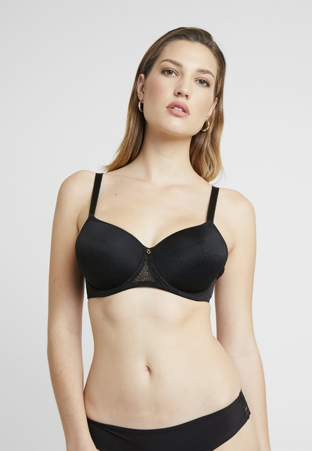 TWILIGHT REBECCA MOULDED SPACER FULL CUP BRA - Podprsenka s kosticemi - black