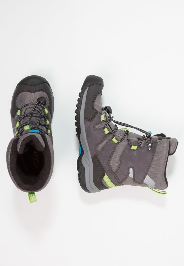 LEVO WP - Winter boots - magnet/blue jewel