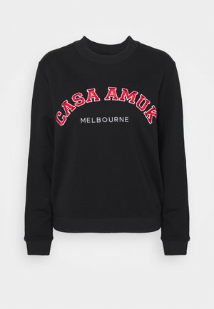 VARSITY JUMPER - Sweatshirt - black