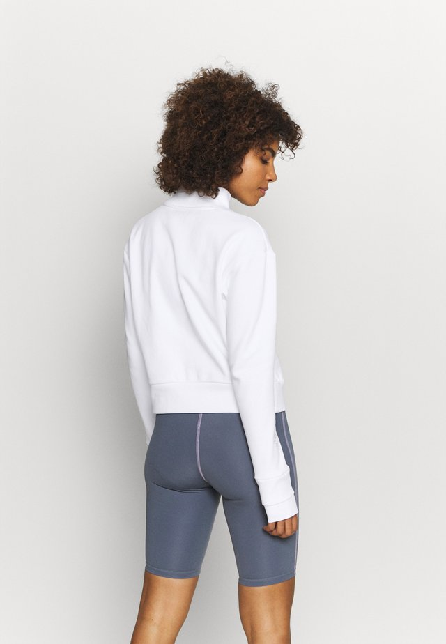 CROPPED ARTICULATED CREW - Sweatshirt - white