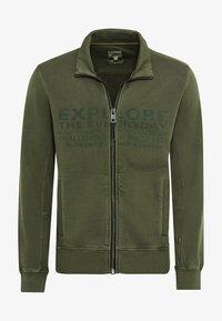 camel active - Zip-up sweatshirt - olive brown - 5
