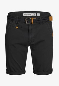 INDICODE JEANS - CASUAL FIT - Shorts - mottled black - 4