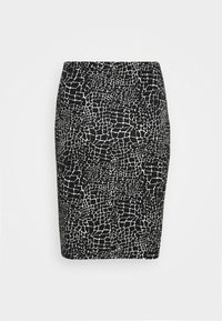 CAPSULE by Simply Be - MONO PRINT MIDI SKIRT - Pencil skirt - black/ivory - 3