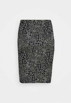MONO PRINT MIDI SKIRT - Pouzdrová sukně - black/ivory