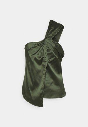 SATIN ONE SHOULDER - Toppi - green