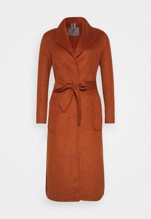 COAT HANDMADE - Classic coat - burned umber orange