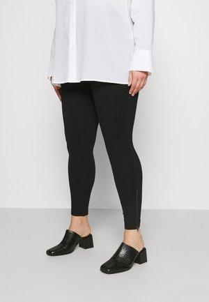 SHAPER ZIP TRIM - Leggings - Trousers - black