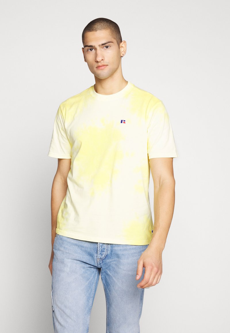 Russell Athletic Eagle R - ROCK - T-shirt con stampa - inca gold