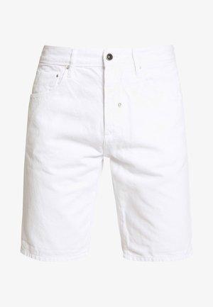 SLIM ARGON - Denim shorts - white