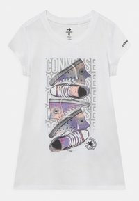 Converse - LET IT GLOW SNEAKER STACK TEE - T-shirt con stampa - white - 4
