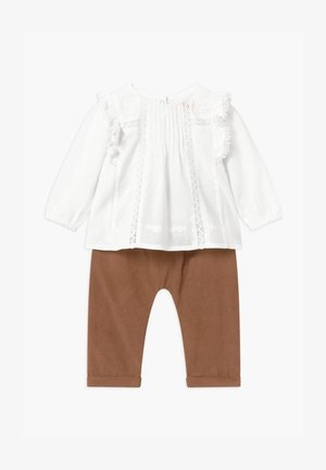 SET - Trousers - white/beige