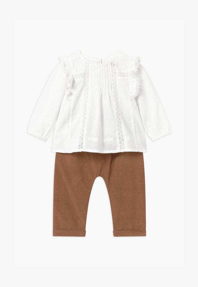 SET - Broek - white/beige
