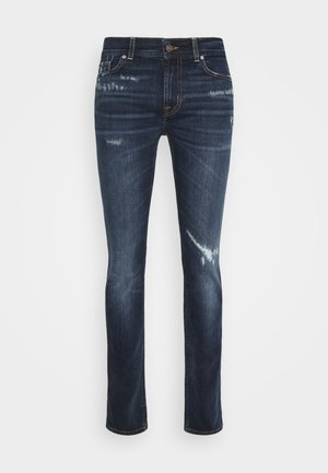 RONNIE ARIES DISTRESSED - Džíny Slim Fit - dark blue