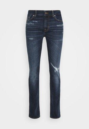 RONNIE ARIES DISTRESSED - Slim fit jeans - dark blue