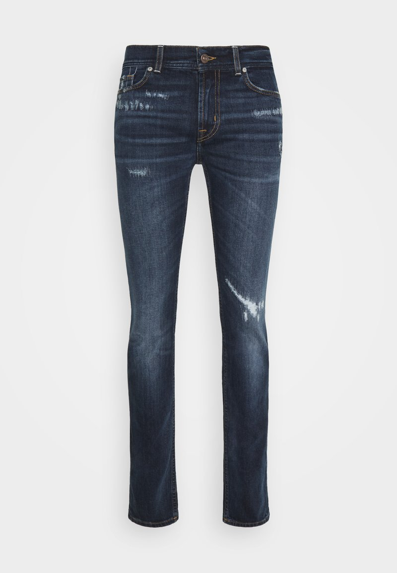 7 for all mankind - RONNIE ARIES DISTRESSED - Džíny Slim Fit - dark blue
