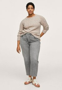 Mango - Straight leg jeans - grijs denim - 1
