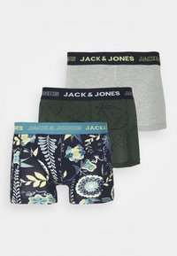JACDRAWING LEAF TRUNKS 3 PACK - Pants - real teal/forest night/light grey