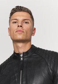 Schott - LCJULES - Leather jacket - black - 3