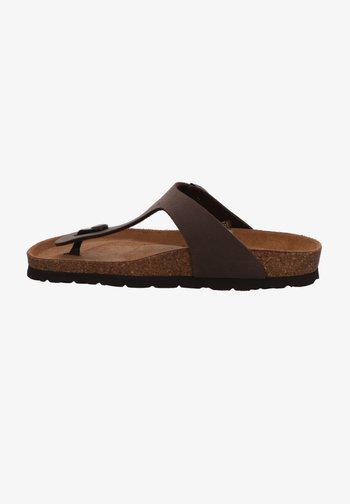 T-bar sandals - mocca