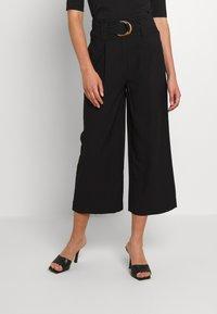 Vero Moda - VMORLA PANTS - Trousers - black - 0