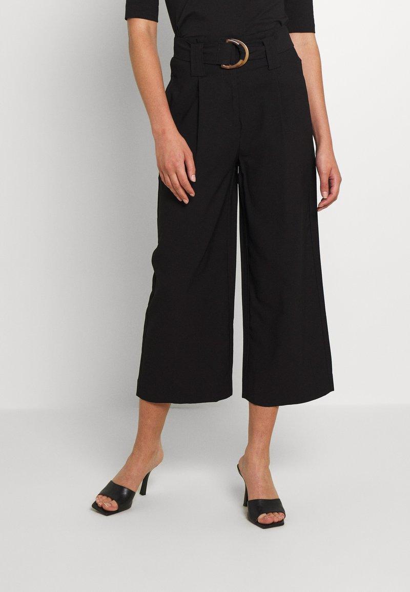 Vero Moda - VMORLA PANTS - Trousers - black