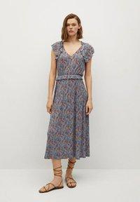 Mango - Day dress - azul - 0