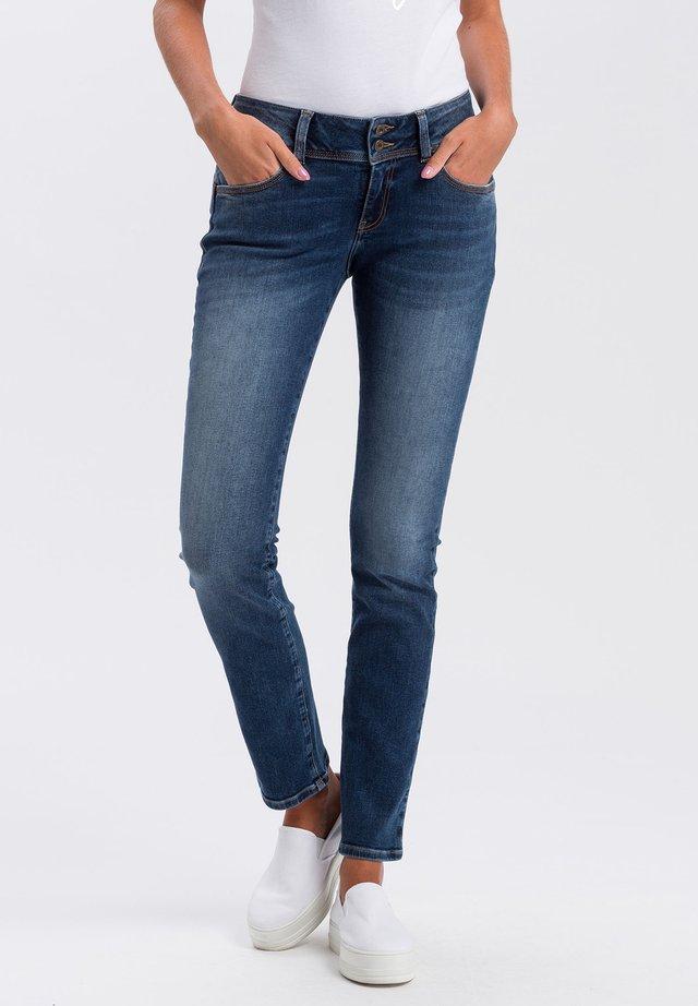 LOIE - Straight leg jeans - dark-used-blue