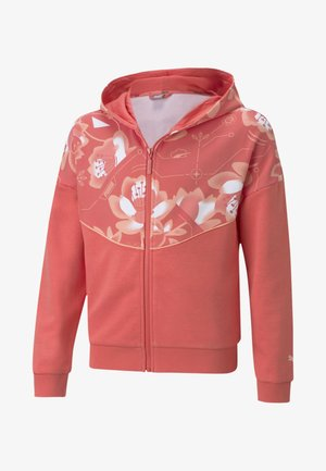 ALPHA - veste en sweat zippée - sun kissed coral