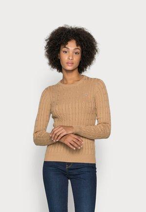 CABLE CREW - Sweter - warm khaki