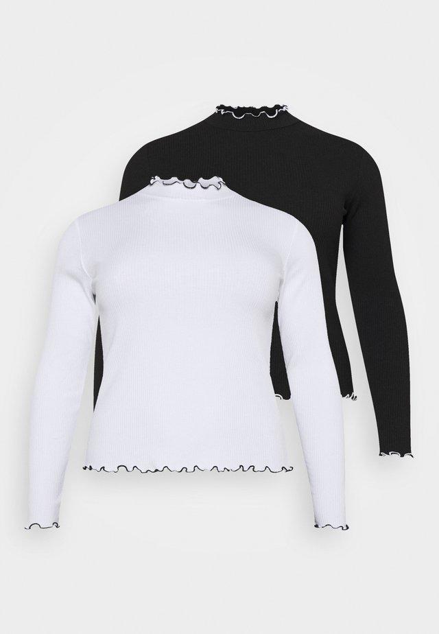 PCARDENA 2 PACK  - T-shirt à manches longues - black/white
