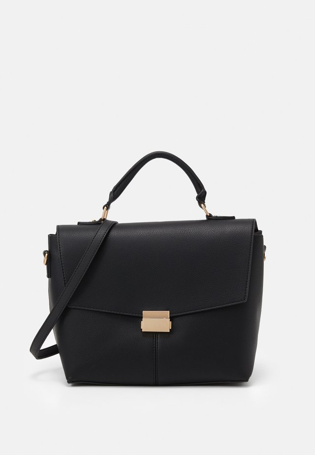 HANDLE SHOULDER BAG - Handtasche - black