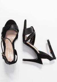 Miss Selfridge Wide Fit - WIDE FIT STELDA HILDA UPDATE - High heeled sandals - black - 3
